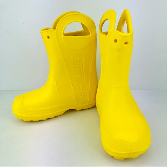 fd9f2a80bad3d1 CROCS Other - Crocs Kids  Handle It Boot Yellow C ...